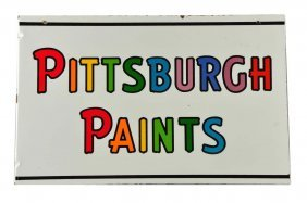 1950's Pittsburgh Paints Porcelain Flange.