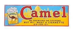 Early Camel Cigarette Porcelain Sign.