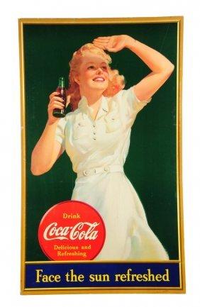 1941 Large Vertical Coca - Cola Poster.