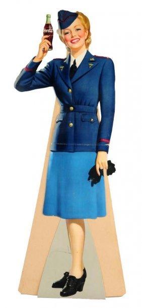 1943 Coca - Cola Large Service Girl Cutout.