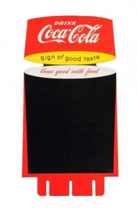 1957 Coca - Cola Scarce Cardboard Case Insert.