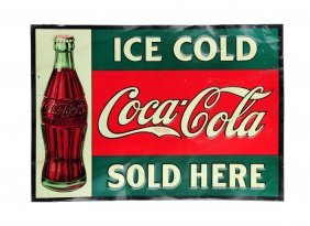 Ice Cold - Coca Cola Sold Here Tin Sign