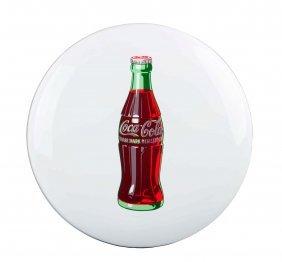 Beautiful 1950's Coca - Cola Porcelain Button.