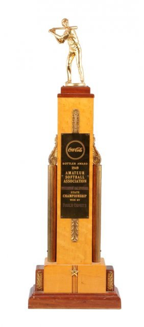 1949 Coca - Cola Softball Trophy.