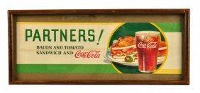 1934 Coca - Cola Paper Menu Sign.