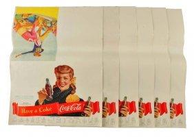 Lot Of 6: 1949 Coca - Cola Football Programs.