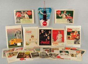 Lot Of Coca - Cola Cutout And Assorted Mag. Ads.