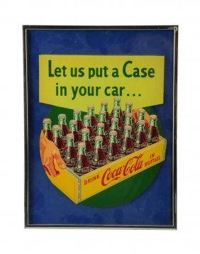1950's Coca - Cola Applied Decal.
