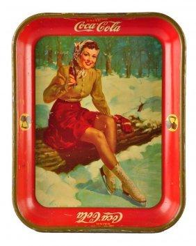 1941 Coca - Cola Serving Tray.