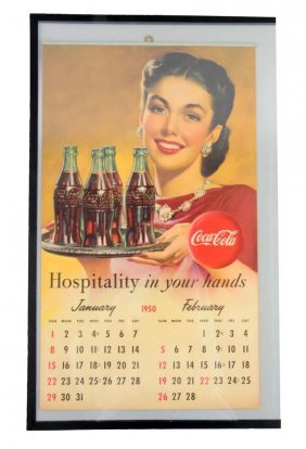 1950 Coca - Cola Calendar.