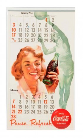 1954 Coca - Cola Calendar.