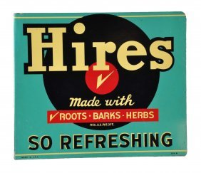 1950's Hires Tin Flange Sign.