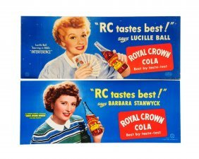 Lot Of 2: Rc Cola Cardboard Posters.