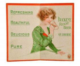 1915 Buckeye Root Beer Mechanical Trade Card.