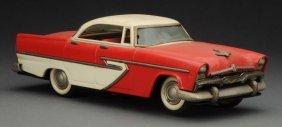 Japanese Tin Friction 1956 Alps Plymouth Sedan.