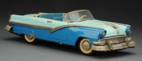 Japanese Tin Litho Friction 1956 Ford Convertible.