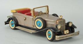 Rare Tin Battery Op. Cadillac Open Phaeton Car.