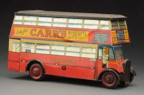 English Chad Valley Double Decker Bus Biscuit Tin.