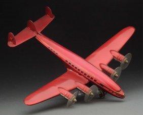 Italian Tin Litho Constellation Type Airplane.