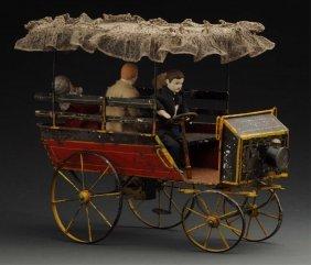 Very Early French Clockwork Depot Wagonette.