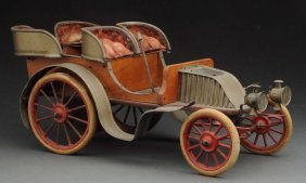 Early French Clockwork Automobile.