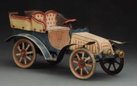 Early German Tin Litho Wind-up Open Touring Car.