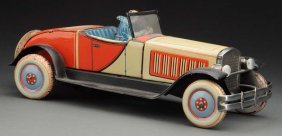 German Jnf Tin Litho Wind-up Open Roadster Auto.