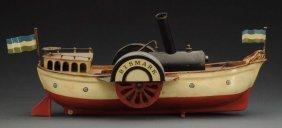 German Bing Bismark Paddle Wheel River Boat.