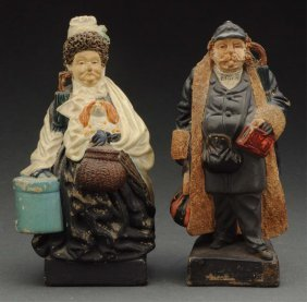Lot Of 2: Early Composition Figurines.