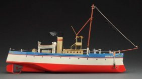 Contemporary Hand Built Caroline Riverboat Toy.