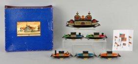 Unusual & Complete German Hess Floatella Boat Set.
