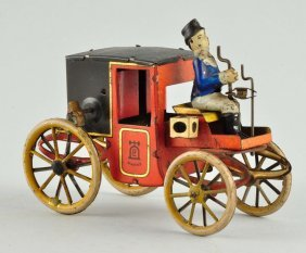 German Lehmann Tin Litho Wind-up Motor Coach Toy.