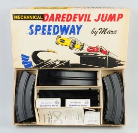 Marx Mechanical Daredevil Speedway Set.