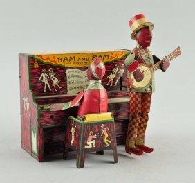 Strauss Tin Litho Wind-up Ham & Sam Band.