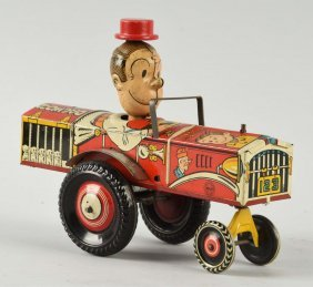 Marx Tin Litho Wind Up Dagwood The Driver Toy.