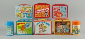 Lot Of 6: Assorted Lunch Box With Thermos.