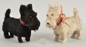 Two Scottish Terrier Dog Candy Containers.