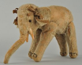 Steiff's Very Early, Fully Jointed Mohair Elephant