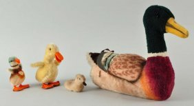 Lot Of 4: Steiff Ducks With Ids.