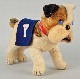 Extraordinarily Rare Steiff Standing Yale Bulldog.