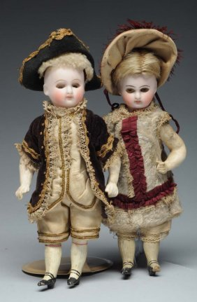 Lot Of 2: Bisque Type Dolls.