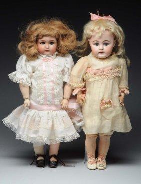 Lot Of 2: German Bisque Dolls.