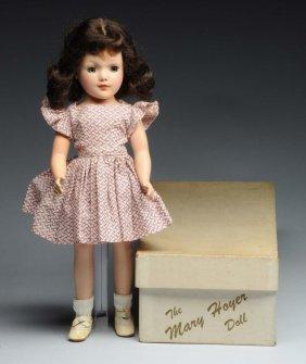 "Boxed Vintage 14"" Mary Hoyer Doll & Wardrobe."