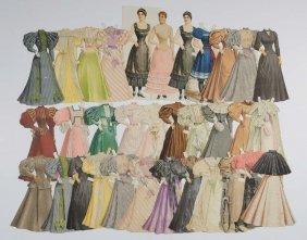 Lot Of Boston Herald Lady Paper Dolls.