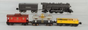 Lot Of 5: Lionel No.224 Locomotive & Freight Cars.