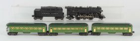Lot Of 5: Lionel No. 224 Post War Loco & Cars.