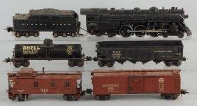 Lot Of 6: Lionel No. 763e Locomotive & Scale Cars.