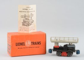 Lionel No. 69 Motorized Track Maintenance Car.