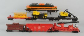 Lot Of 8: Lionel No. 2358 Loco. & Freight Cars.