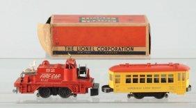 Lionel No. 60 Trolley & No. 52 Fire Car.